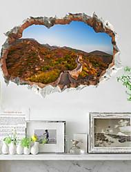 Недорогие -Декоративные наклейки на стены - Простые наклейки Пейзаж Гостиная Спальня Ванная комната Кухня Столовая Кабинет / Офис