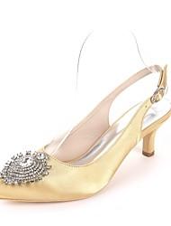 economico -Per donna Scarpe Raso Primavera estate Decolleté scarpe da sposa Kitten Appuntite Con diamantini Royal Blue / Champagne / Avorio