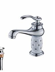 Недорогие -Смеситель - Водопад Хром Настольная установка Одной ручкой одно отверстие