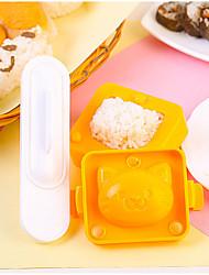 abordables -Herramientas de cocina Plásticos Nuevo diseño El moho de bricolaje Bolas de arroz 3pcs