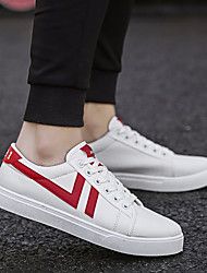 baratos -Homens sapatos Lona Primavera Conforto Tênis Preto Arco-íris Vermelho