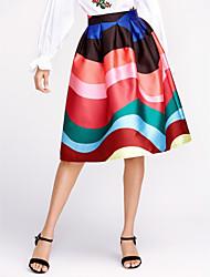 cheap -Women's Cotton A Line Skirts - Striped