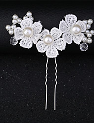 cheap -Imitation Pearl / Lace Hair Clip / Hair Stick with Lace / Flower / Crystals / Rhinestones 1 Piece Wedding / Special Occasion Headpiece