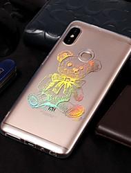 baratos -Capinha Para Xiaomi Redmi Note 5 Pro / Redmi 5A Galvanizado / Estampada Capa traseira Animal Macia TPU para Xiaomi Redmi Note 5 Pro /