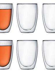 cheap -Drinkware High Boron Glass Mug Heat-Insulated 6 pcs