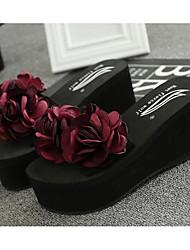 cheap -Women's Shoes EVA(ethylene-vinyl acetate copolymer) Summer Comfort Slippers & Flip-Flops Creepers Rainbow / Burgundy / Champagne