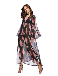cheap -Women's Boho Chiffon Dress - Solid Colored / Floral