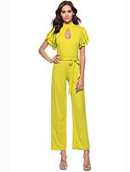 cheap -Women's Jumpsuit - Solid Colored, Cut Out
