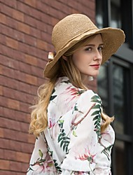 cheap -Natural Fiber Hats with Floral 1pc Casual / Daily Wear Headpiece