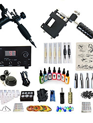 cheap -Tattoo Machine Starter Kit - 2 pcs Tattoo Machines with 7 x 15 ml tattoo inks, Professional, Kits LED power supply Case Not Included 2 rotary machine liner & shader