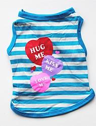 preiswerte -Hunde / Katzen / Haustiere Weste Hundekleidung Gestreift / Einfache / Herz Purpur / Rot / Blau Baumwolle Kostüm Für Haustiere Weiblich