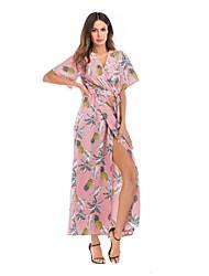 economico -Per donna Essenziale Swing Vestito Fantasia geometrica Medio