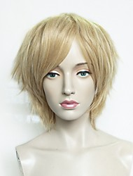 cheap -Synthetic Wig Straight Blonde Bob Haircut / Layered Haircut / Short Bob Synthetic Hair Anime / Heat Resistant / Synthetic Blonde Wig Women's Short Capless Light Blonde / Natural Hairline