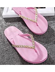 abordables -Unisexe Chaussures EVA Eté Confort Chaussons & Tongs Plateau pour De plein air Noir / Jaune / Rose