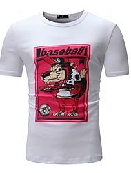 baratos -Homens Camiseta Básico Animal Folha tropical