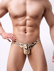 cheap -Men's Briefs Underwear Camouflage Low Rise