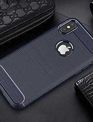 billiga -fodral Till Apple iPhone X / iPhone 6s Ultratunt Skal Enfärgad Mjukt TPU för iPhone X / iPhone 8 Plus / iPhone 8