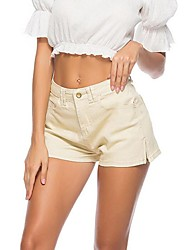 cheap -Women's Basic Street chic Shorts Jeans Pants - Solid Colored