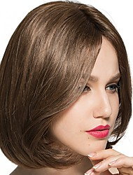 cheap -Synthetic Wig Wavy Middle Part Short Bob Layered Haircut Bob Haircut Heat Resistant 100% Virgin Middle Part Bob New Women Brown Women's