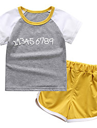 Недорогие -Дети Дети (1-4 лет) Мальчики Контрастных цветов С короткими рукавами Набор одежды