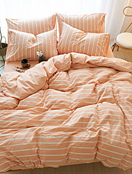 cheap -Duvet Cover Sets Stripes / Ripples Poly / Cotton Quilted 4 Piece