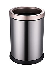 cheap -High Quality Round Stainless Steel Bin Invisible Bags Trash Can Fingerprint-proof Garbage Can Water-proof Waste Container with Inner Bucket KY1-8L