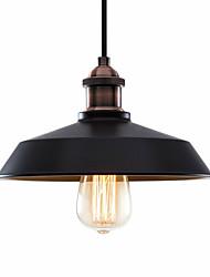 Недорогие -северная Европа винтажная промышленность металлический оттенок подвесные светильники 1-фары столовая гостиная кухня окрашенная отделка