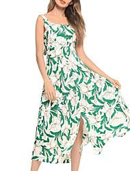 cheap -TS - Dreamy Land Women's Swing Dress - Floral Backless / Print