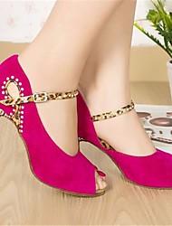 Недорогие -Жен. Обувь для латины Нубук На каблуках На шпильке Танцевальная обувь Пурпурный / Синий / Выступление / Кожа / Тренировочные