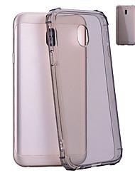 baratos -Capinha Para Samsung Galaxy J5 (2017) / J3 (2017) Antichoque / Translúcido Capa traseira Sólido Macia TPU para J7 (2017) / J5 (2017) / J3 (2017)
