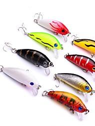 abordables -8pcs pcs Cebos Señuelos duros / Pececillo El plastico Al Aire Libre Pesca de baitcasting / Pesca de Cebo / Pesca en General