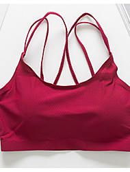 cheap -Women's Full Coverage Bras Sports Bras / Padded Bras / Seamless - Solid Colored / Letter