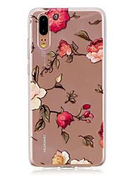 abordables -Coque Pour Huawei P20 / P20 lite Translucide Coque Fleur Flexible TPU pour Huawei P20 / Huawei P20 Pro / Huawei P20 lite