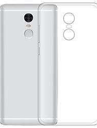 abordables -Funda Para Xiaomi Redmi Note 4 Transparente Funda Trasera Un Color Suave TPU para Xiaomi Redmi Note 4