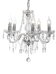 cheap -CXYlight 5-Light Candle-style Chandelier Uplight - Candle Style, 110-120V / 220-240V Bulb Not Included / 10-15㎡ / FCC