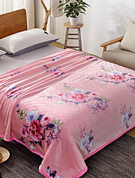 baratos -Velocino de Coral, Estampado Flor Poliéster cobertores