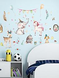 Недорогие -Декоративные наклейки на стены - Наклейки для животных Животные Гостиная Спальня Ванная комната Кухня Столовая Кабинет / Офис