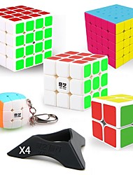 Недорогие -9 ед. Волшебный куб IQ куб QIYI QIYI-A Пираморфикс Чужой Мини 2*2*2 3*3*3 4*4*4 Спидкуб Кубики-головоломки головоломка Куб Гладкий стикер профессиональный уровень Игровой Подростки Взрослые Детские