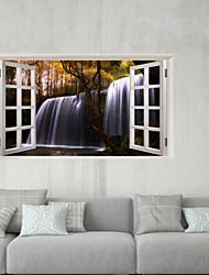 abordables -Autocollants muraux décoratifs / Autocollants de frigo - Autocollants muraux 3D Paysage / A fleurs / Botanique Chambre à coucher / Cuisine