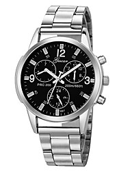 cheap -Men's Sport Watch Chinese Chronograph / Creative / New Design Stainless Steel / Leather Band Casual / Bangle Black / Silver / Large Dial / SSUO LR626 / Tianqiu 377