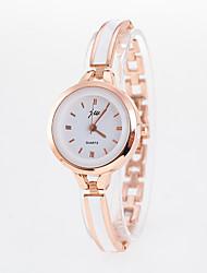 abordables -Mujer Reloj Pulsera / Reloj de Pulsera Chino Reloj Casual Acero Inoxidable Banda Moda Plata / Dorado