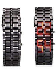 Недорогие -Муж. электронные часы Китайский Секундомер / Светящийся / Круто слов / фраз сплав Группа камуфляж Черный / SSUO LR626