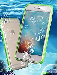 Недорогие -Кейс для Назначение Apple iPhone 8 Plus / iPhone 7 Защита от удара / Водонепроницаемый / Прозрачный Чехол Однотонный Мягкий ТПУ для