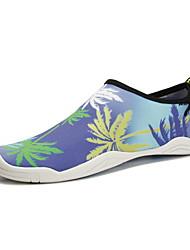 Недорогие -Жен. Обувь Дышащая сетка Весна лето Удобная обувь Мокасины и Свитер На плоской подошве Серый / Лиловый / Тёмно-синий