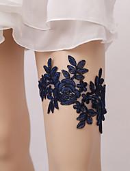 baratos -Renda De Renda Wedding Garter  -  Floral / Elástico Ligas Casamento / Festas & Noite