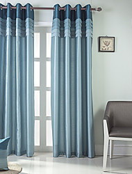 cheap -Curtains Drapes Bedroom Solid Colored / Color Block / Stripe 100% Polyester Pleated