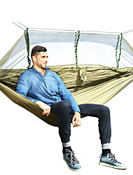 cheap -Camping Hammock with Mosquito Net Outdoor Lightweight Nylon for Hiking / Camping / Travel - 2 person Dark Blue / Gray / Army Green
