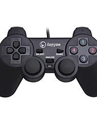 baratos -L-300S Com Fio Controladores de jogos Para PC ,  Vibração Controladores de jogos ABS 1 pcs unidade