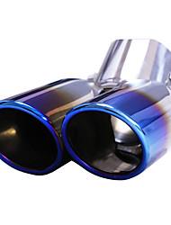 baratos -1 Peça 63mm Pontas do tubo de escape Dobrado Aço Inoxidável Silenciadores de Escape For Nissan pássaro azul Todos os Anos