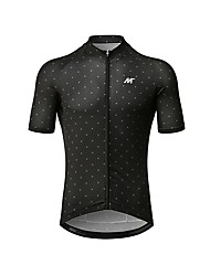 cheap -Mysenlan Men's Short Sleeve Cycling Jersey - Black Bike Jersey / Italy Imported Fabric / Race Fit / Breathable Armpits